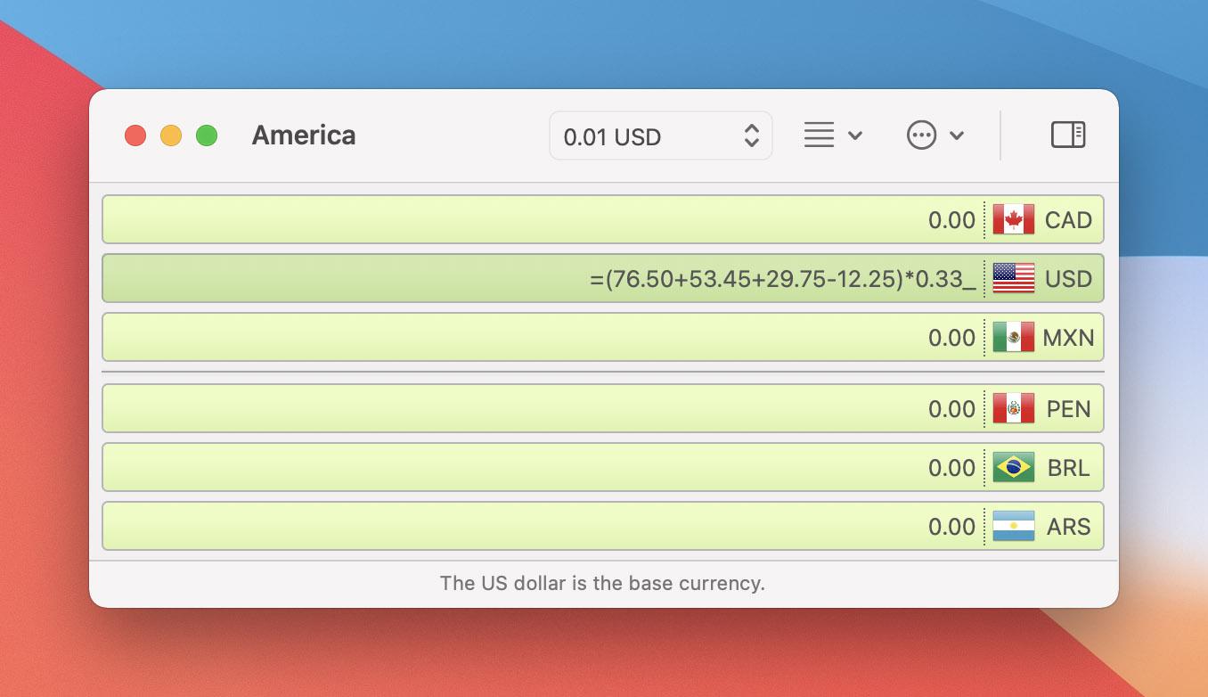 Currency Assistant 3.5 Mac 破解版 国际货币汇率计算器